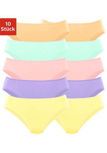 Go in Bikinislip (10 Stück) in klassischen Uni-Farben