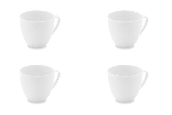 Friesland 4er Set Kaffee- Obertasse 160ml »Ecco Weiß«