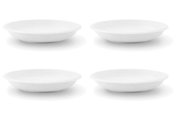 Friesland 4er Set Suppenteller 21cm »Ecco Weiß«