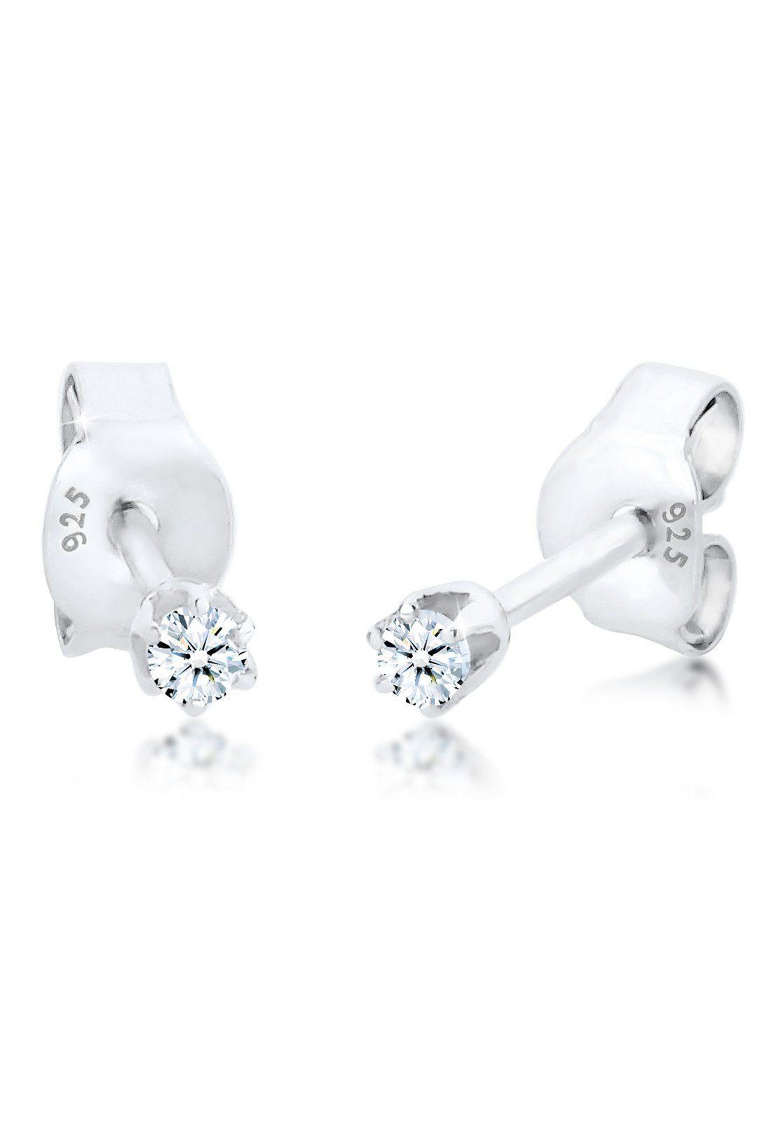 Diamore Ohrringe »Basic Ohrstecker Diamant (0.06 ct.) 925 Silber«
