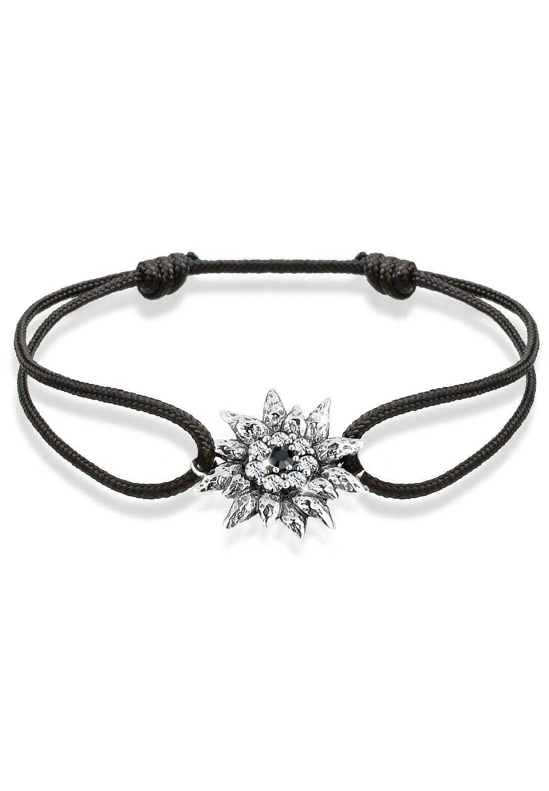 Elli Armband »Edelweiß Wiesn Tracht Swarovski® Kristalle Silber«