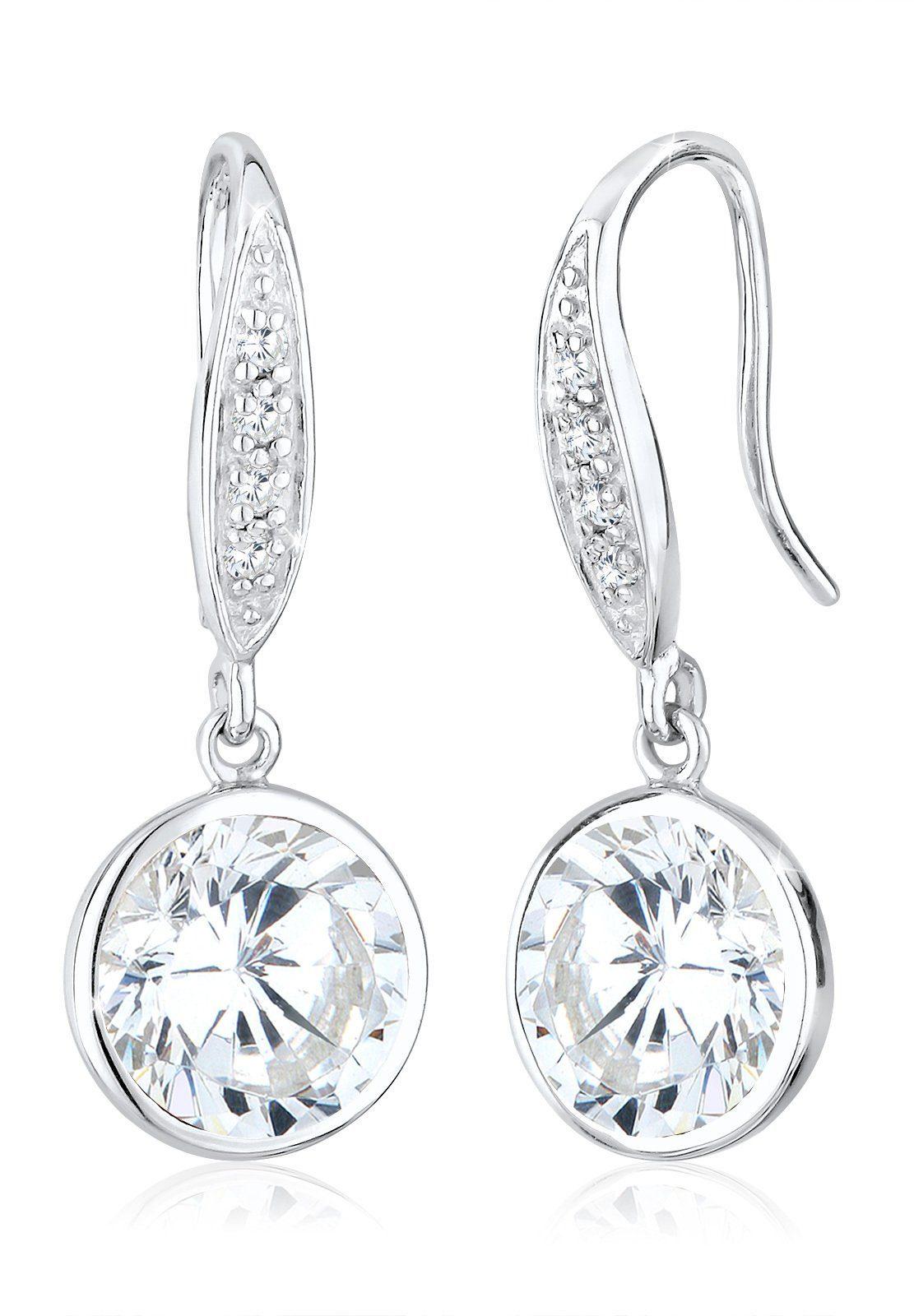 Elli Ohrringe »Zirkonia Glamour Elegant Klassisch 925 Silber«