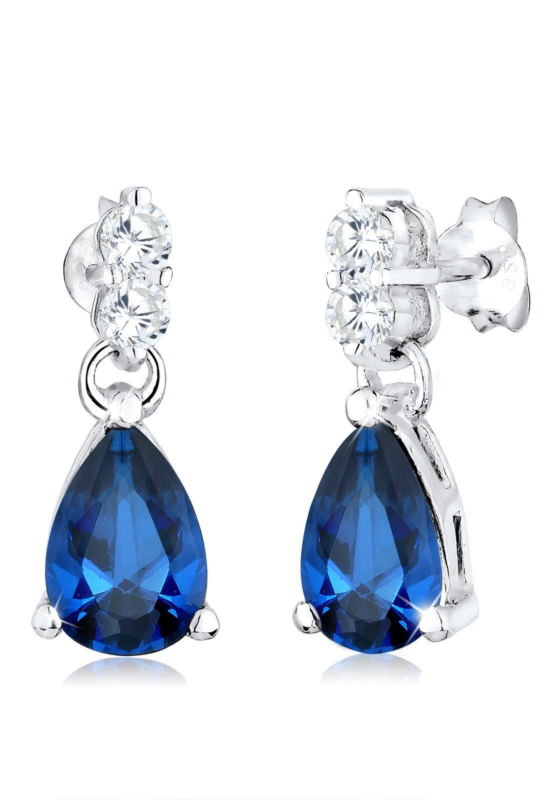Elli Ohrringe »Tropfen Zirkonia Glamour Elegant 925 Silber«