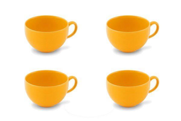 Friesland kaffetasse »4er-Set Kaffee-Obertasse 0,24l Happymix Safrangelb« 87