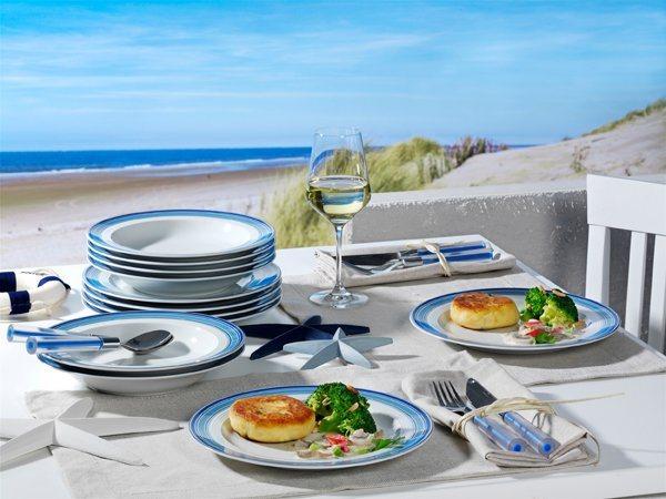 friesland tafel service 12 teilig jeverland strand linie. Black Bedroom Furniture Sets. Home Design Ideas