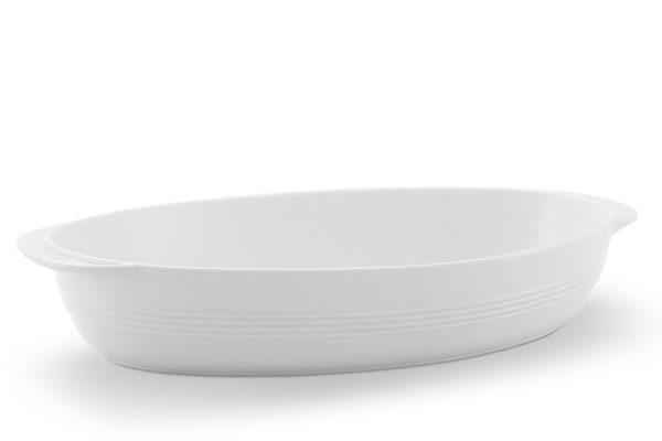 Friesland Auflaufschale oval 33cm x 20cm »Jeverland Weiß«