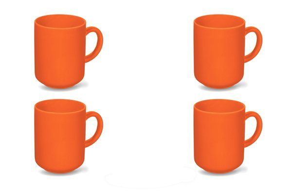 Friesland 4er Set Becher 400ml »Happymix Orange«