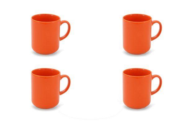 FRIESLAND 4er Set Becher 250ml »Happymix Orange«