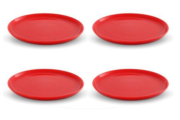 Friesland 4er Set Frühstücksteller 19cm »Happymix Rot«