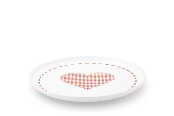 FRIESLAND Frühstücksteller Herz 19cm »Happymix Winterzauber«