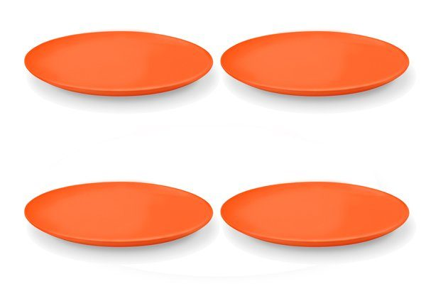 Friesland 4er Set Speiseteller 25cm »Happymix Orange«
