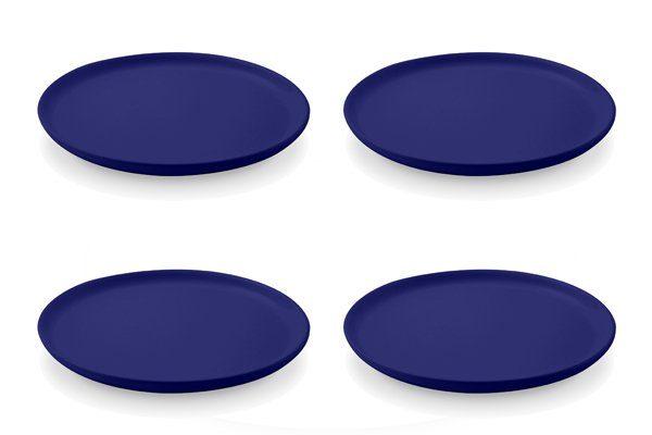 Friesland 4er Set Frühstücksteller 19cm »Happymix Blau«