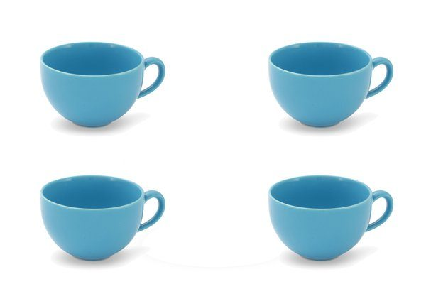 Friesland 4er Set Kaffee-Obertasse 240ml »Happymix Azurblau«