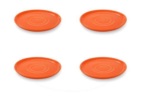 FRIESLAND 4er Set Untertasse 15cm »Happymix Orange«
