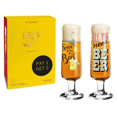 Ritzenhoff Bierglas »Beer 2er Set 2021 Potts & Przybylska«, Kristallglas