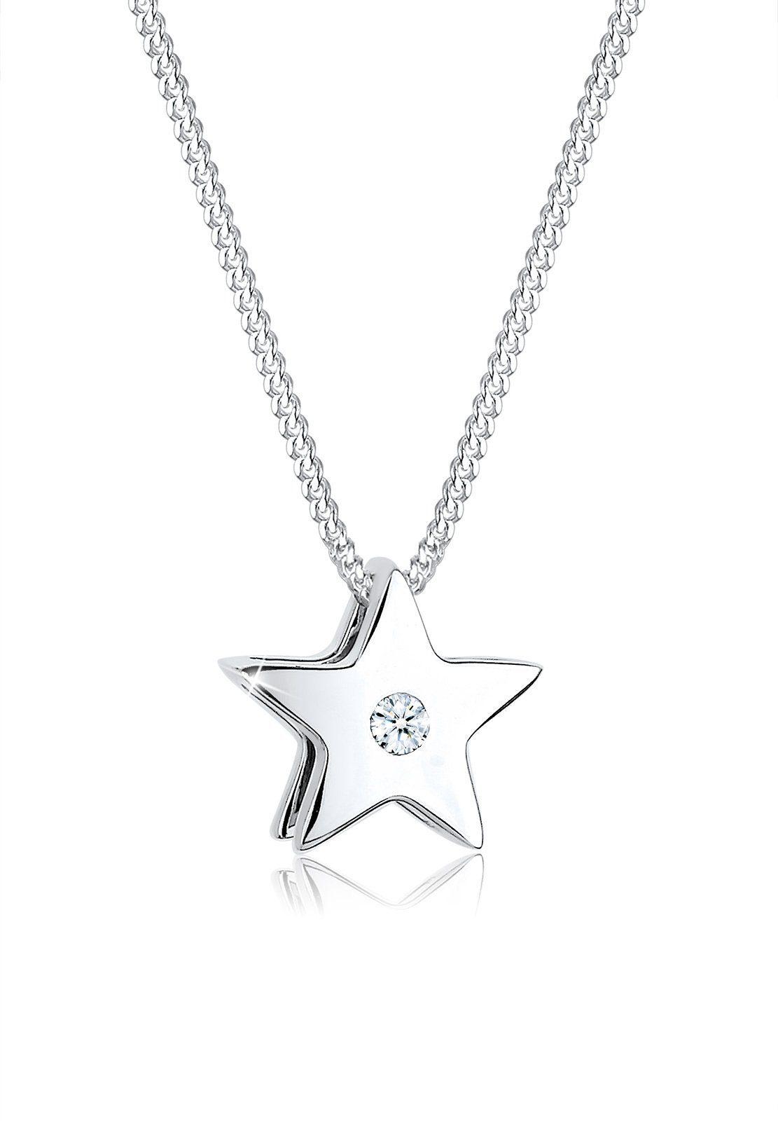 Diamore Halskette »Sterne Diamant 925 Sterling Silber«