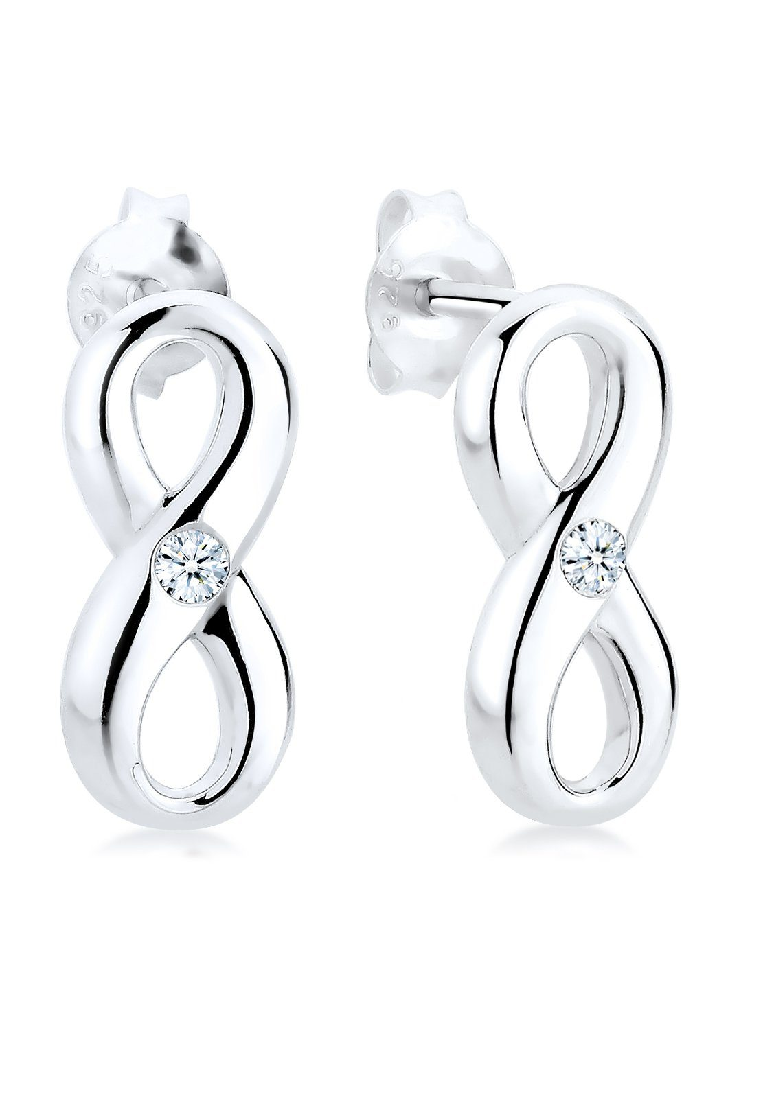 Diamore Ohrringe »Infinity Diamant (0.06 ct.) 925 Sterling Silber«