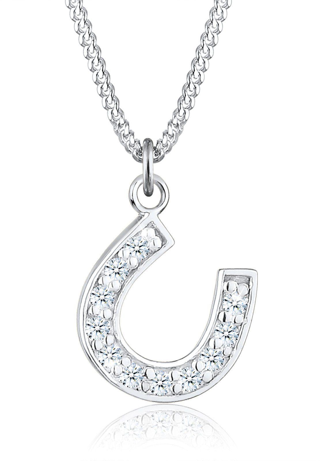 Diamore Halskette »925 Sterling Silber Hufeisen Diamant«