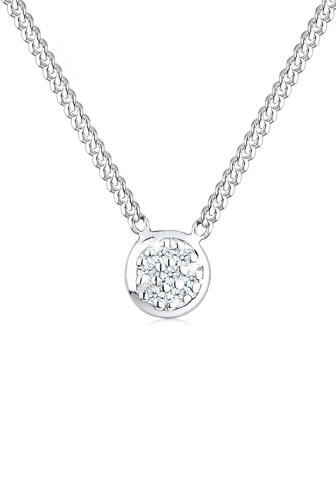 Diamore Halskette »Diamant (0.03 ct) 925 Sterling Silber«