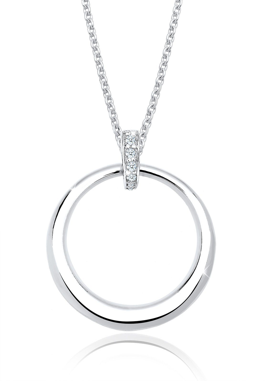 Diamore Halskette »925 Sterling Silber Diamant Kreis«
