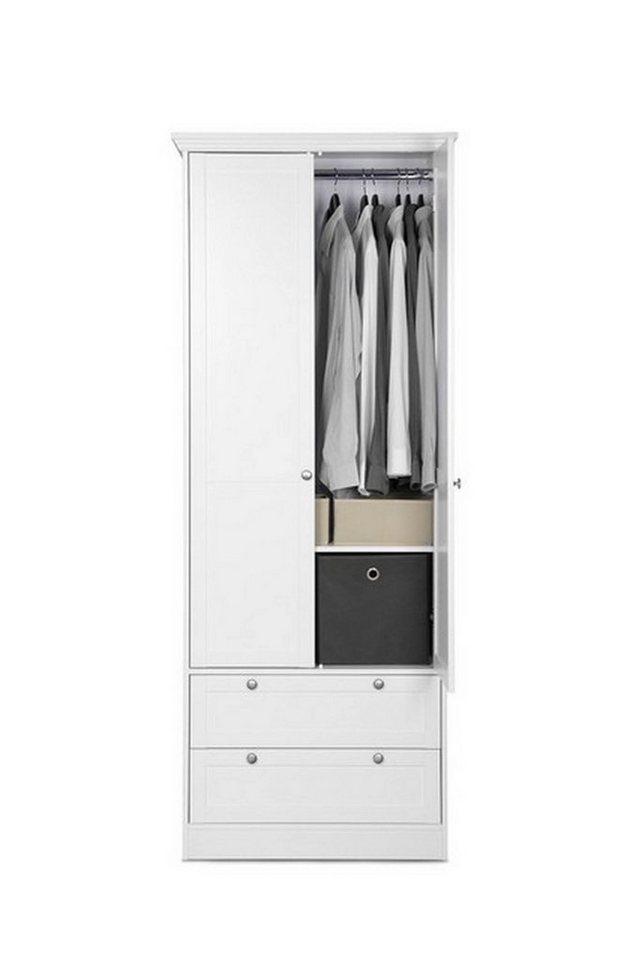 hti living kleiderschrank mit 2 t ren landwood otto. Black Bedroom Furniture Sets. Home Design Ideas