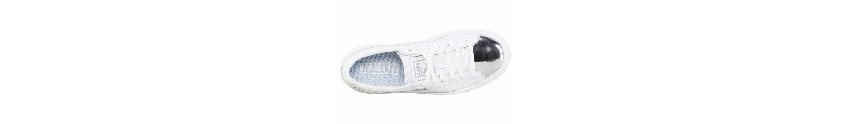 Billig Verkauf 100% Original Auslass Für Billig PUMA Basket Platform Metallic Sneaker Billig Verkauf Sammlungen Webseiten Günstig Online t0ZsUg6h