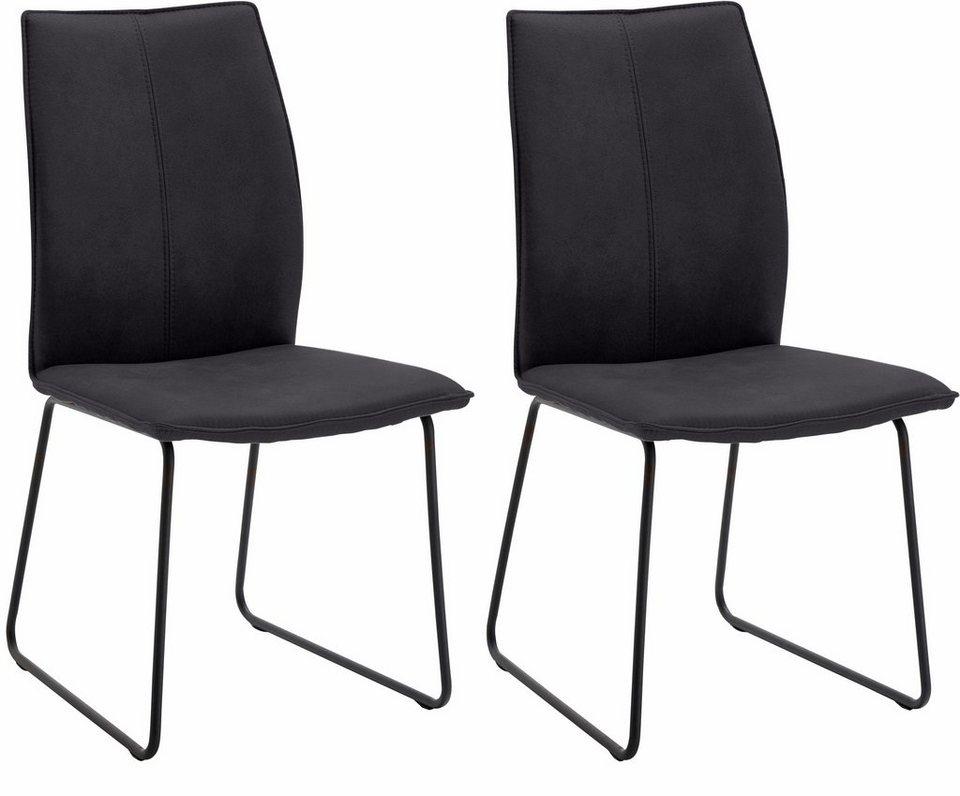 Sitzmöbel design  NIEHOFF SITZMÖBEL Design Stuhl »Capri« (2er Set) mit Kufengestell ...