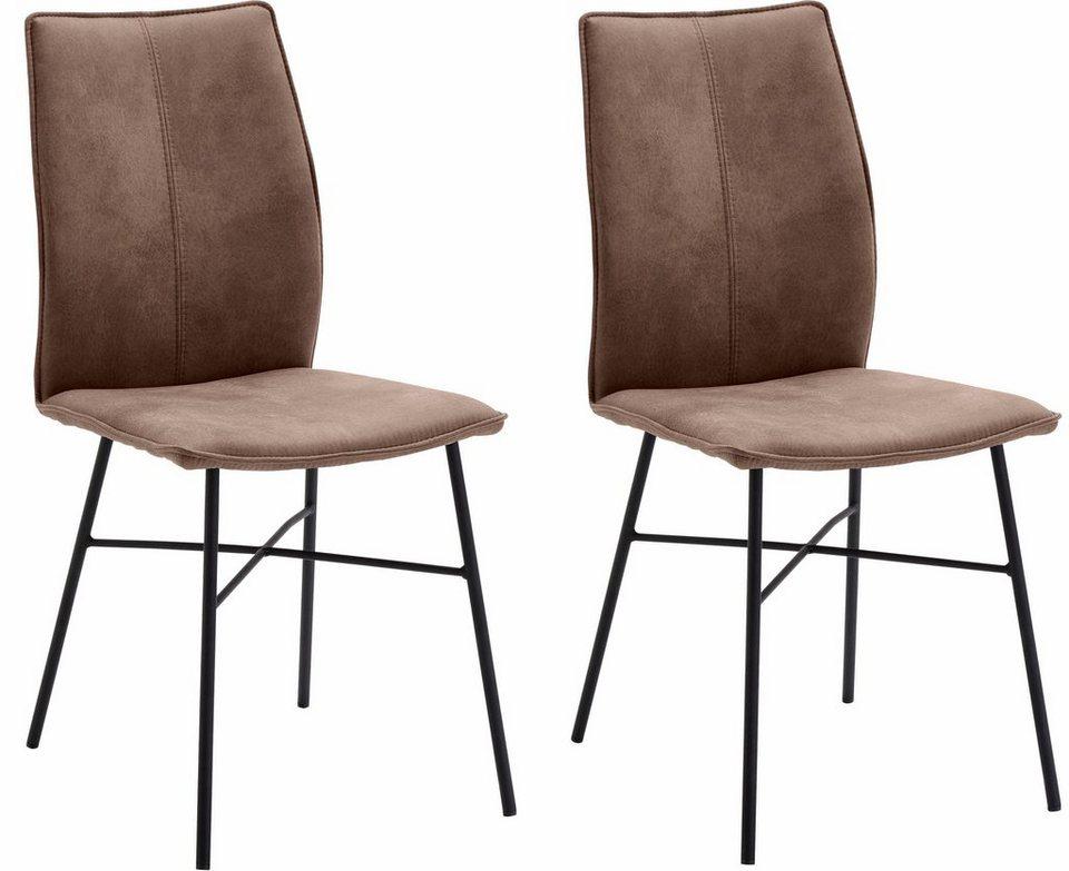 Sitzmöbel design  NIEHOFF SITZMÖBEL Design Stuhl »Capri« (2er Set) mit Stativgestell ...