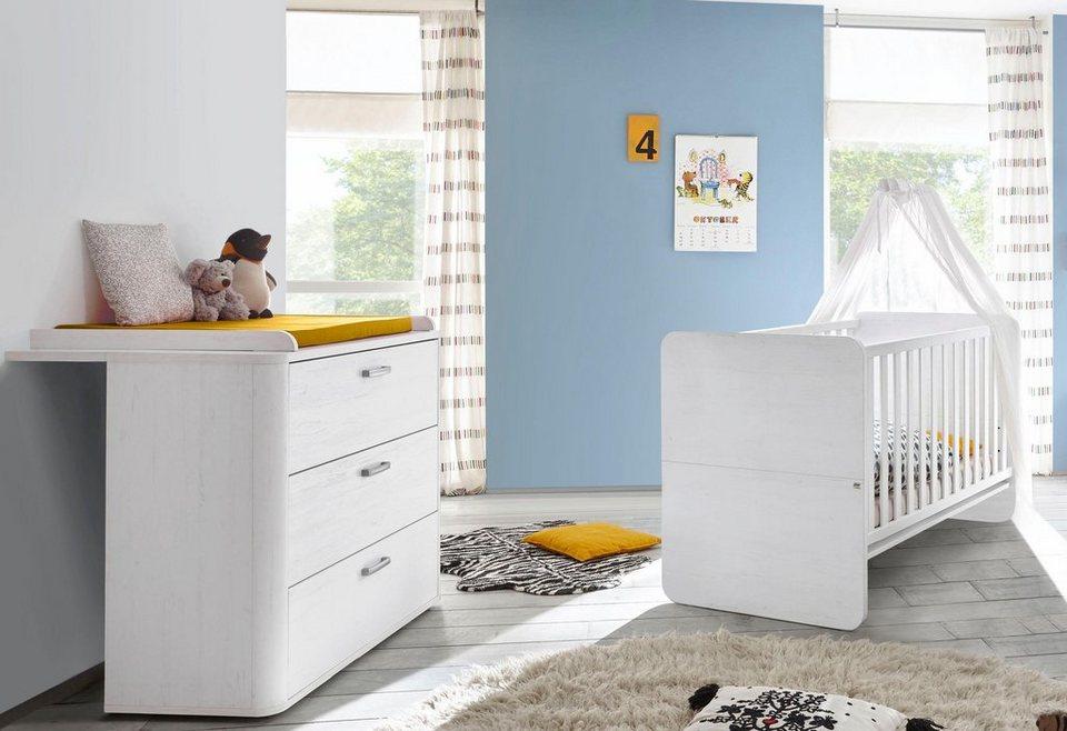Babyzimmer spar set lillesand 2 tlg in pinie nb wei - Otto babyzimmer ...