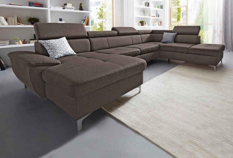 exxpo - sofa fashion Wohnlandschaft, wahlweise mit Bettfunktion und Bettkasten