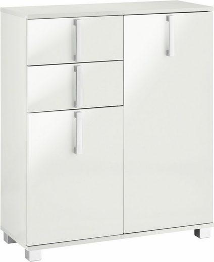 Schildmeyer Badkommode »Kampen«, Breite 80,6 cm, Badezimmerschrank mit Metallgriffen, Türen mit Soft-Close-Funktion, 2 praktische Schubladen