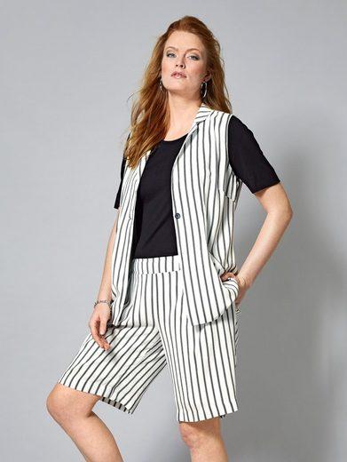 Sara Lindholm By Happy Size Vest Striped