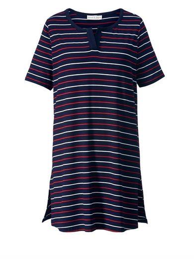 Janet und Joyce by Happy Size Longshirt gestreift