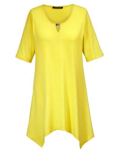 Sara Lindholm by Happy Size Shirt mit Zipfelsaum