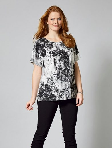 Sara Lindholm by Happy Size Shirt mit Druck-Print
