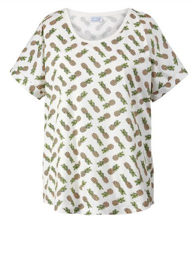 Angel of Style by Happy Size Shirt in Oversize-Form mit Ananas-Print