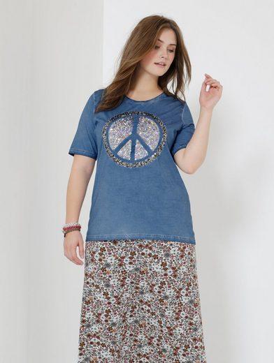 Janet Und Joyce Par Happy Size Shirt Lavage À Lhuile Mit Pailletten