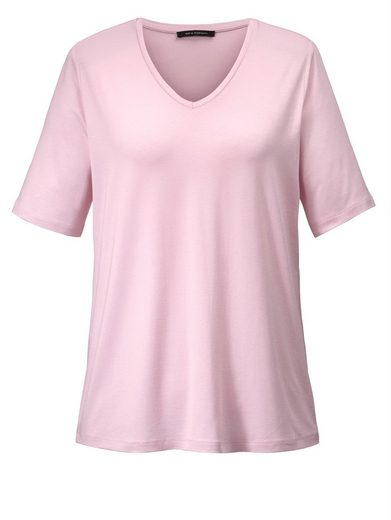 Sara Lindholm by Happy Size Basic-Shirt mit V-Ausschnitt