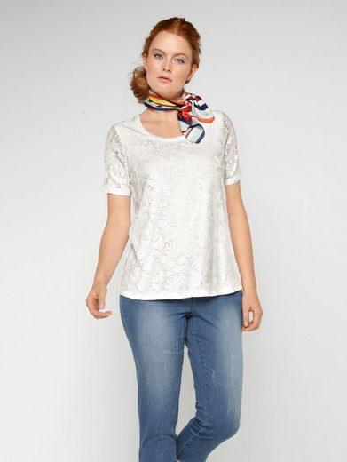 Sara Lindholm by Happy Size Shirt mit Spitze
