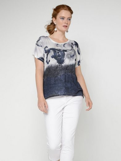 Sara Lindholm by Happy Size Shirt mit Glitzernieten