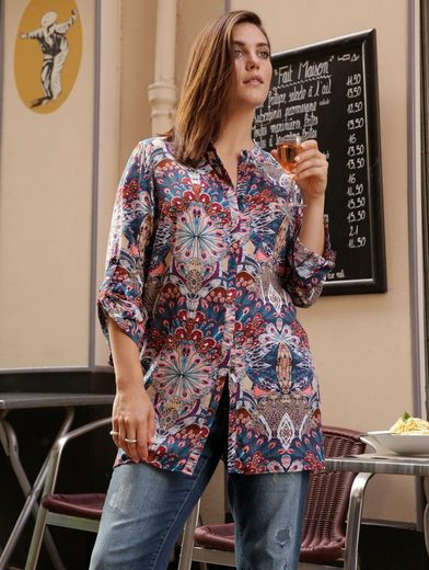 Janet und Joyce by Happy Size Longbluse mit Allover-Print