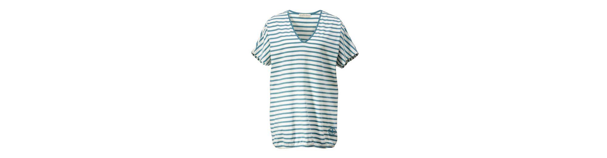 Janet und Joyce by Happy Size Shirt gestreift in Oversize-Form Billig Verkauf Footlocker Spielraum Countdown-Paket lOHN6kh
