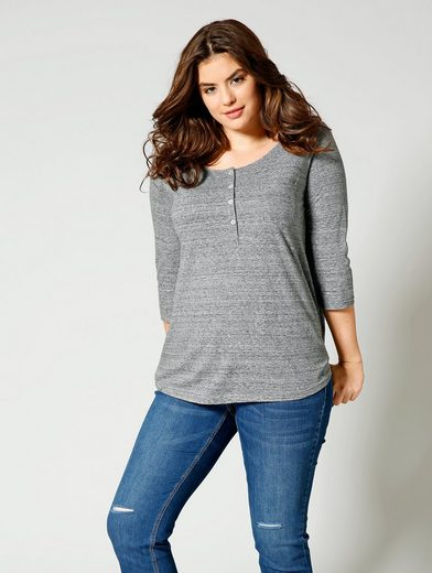 Angel of Style by Happy Size Shirt mit Knopfleiste
