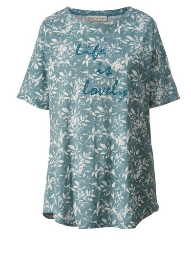 Janet Und Joyce By Happy Size Shirt Mit Statementprint