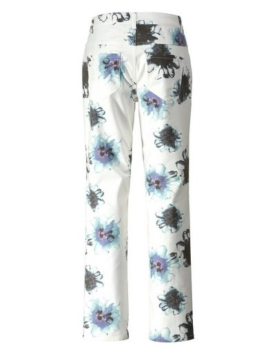 Angel of Style by Happy Size Hose mit Blumen-Print
