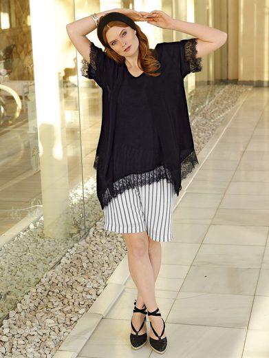 Sara Lindholm by Happy Size Kimono mit Spitze