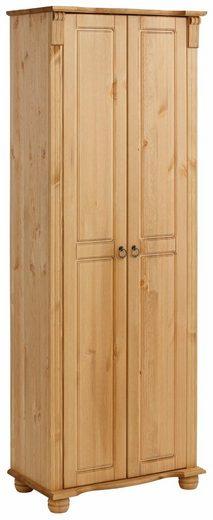 Home affaire Garderobenschrank Florenz», 67 cm breit, aus massiver Kiefer