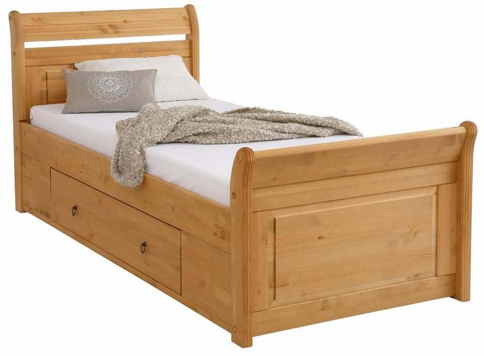 home affaire bett lotta in 3 breiten 2 farben mit. Black Bedroom Furniture Sets. Home Design Ideas