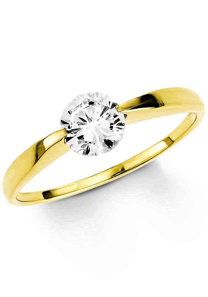 Amor Fingerring, mit Zirkonia