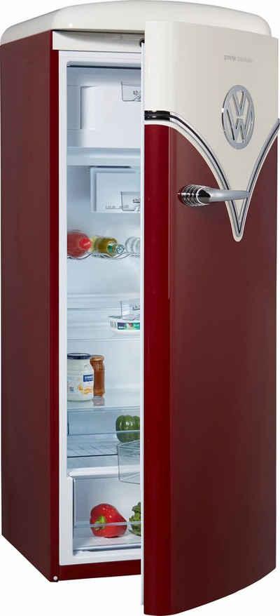 GORENJE Kühlschrank VW Bulli OBRB153R, 154 cm hoch, 60 cm breit